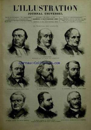 ILLUSTRATION (L') [No 1967] du 06/11/1880 - LE TRIBUNAL DES CONFLITS / ALMERAS-LATOUR MEMBRES DE LA COUR DE CASSATION - M. BARBIER - M. PONT - M. LAFERRIERE - M. CAZOT - M. COLLET - M. TARDIF - M. BRAUN - M. DE LAVENAY
