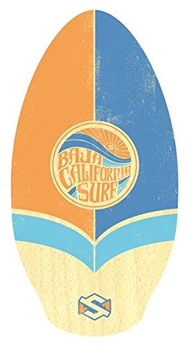 "Skim One Skimboard, Orange Wood Baja California Surf/Blau, 39"""