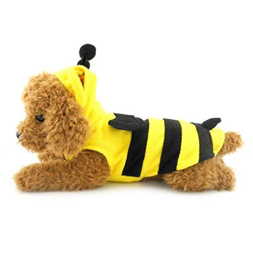 Kostüm Bumble Pet Bee - Pegasus Pet Kleidung für Welpen Katze Kleine Hunde Bumble Bee Kostüm Fleece Weste Gelb