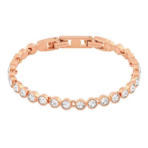 Swarovski Tennis Armband, weiss, rosé Vergoldung