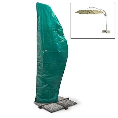 ECD Germany 265 H x 100 B Housse de protection pour parasol Couverture en polyéthylène5 m Ø avec fermeture éclaire