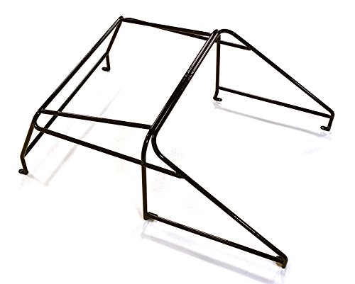 Integy RC Model Hop-ups C27216BLACK Realistic Outer Roll Cage for 1/10 D90 Pickup Gen-2 Scale Body (Hop Roll)