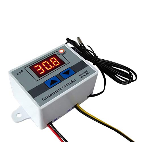 BOOMING 220V 10A Digitalanzeige LED-Temperatur Controller mit Thermostatkontrollschalter -...