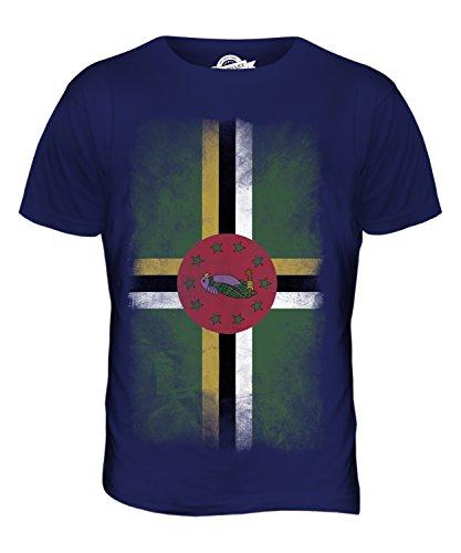 CandyMix Dominica Verblichen Flagge Herren T Shirt Navy Blau