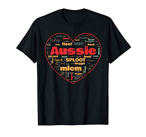 Australian Shepherd Dog T-shirt (Australian Shepherd Dog Lovers Terminologie T-Shirt)