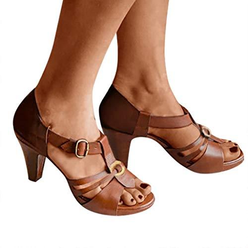 Sandalias para Mujer Verano Romanas Vintage Zapatos De Fiesta Mujer Elegantes Grandes jorich Sandalias...