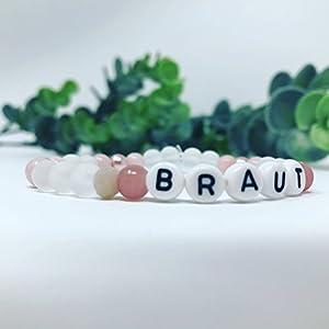 Armband Braut Jade pastell rosa