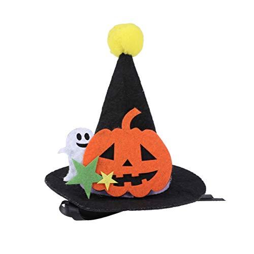 Balacoo Halloween Haustier Hut Kürbis Geist Hexe Party Hut Kinder Halloween Kostüm Deko Hut Foto Requisite Cosplay Hut für Hund Katze - Hexe Kostüm Für Hunde