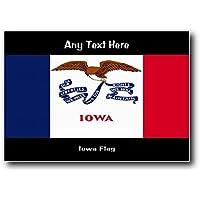 Bandiera America usa Iowa media acrilico placca a muro