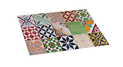Croma - Alfombra vinílica estampada Mosaico Color 45X75