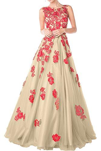Charmant Damen Orange Organza Abendkleider Promkleider ...