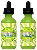 2 Bottles of 50ml Dinner Lady E-liquid 0mg (No Nicotine)(Apple Pie) + FREE VAPE BAND