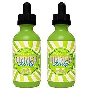 2 Bottles of 50ml Dinner Lady E-liquid 0mg (No Nicotine) Plus FREE Vape band…