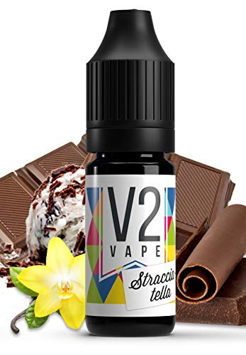 V2 Vape Stracciatella AROMA / KONZENTRAT hochdosiertes Premium Lebensmittel-Aroma zum selber mischen von E-Liquid / Liquid-Base für E-Zigarette und E-Shisha 10ml 0mg nikotinfrei