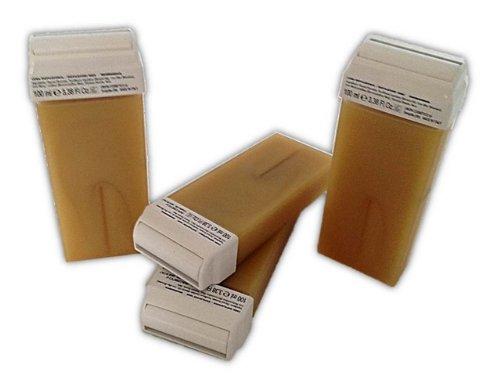 4 Wachspatronen Micromica Gold 100 ml mit großem Rollkopf für die Haarentfernung mit Warmwachs