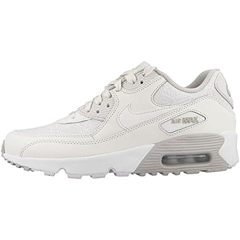 Chaussures Nike–Air max 90se Mesh (GS) - blanc - summit white-summit white-light bone