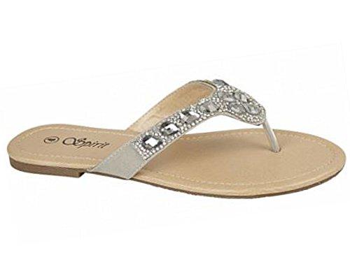 Foster Footwear - Retro aperto da ragazza' donna Bojangles:Silver