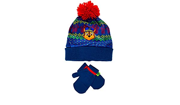 Girls Paw Patrol Everest Husky Dog Winter Beanie Hat and Gloves 2-Piece Set