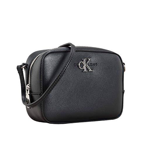 Calvin Klein Damen Ckj Monogram Hw Camera Bag Umhängetasche, Schwarz (BLACK), 7x12.7x16.8 cm