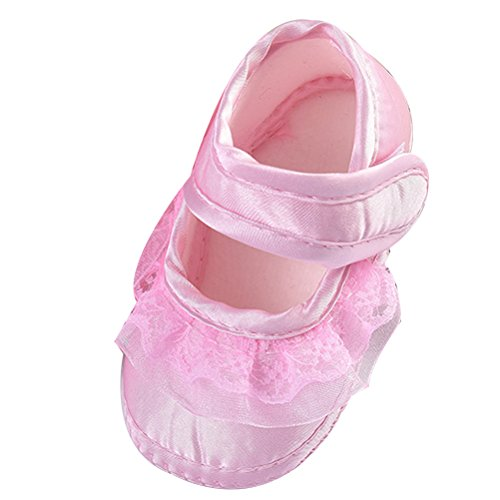 slip Baby Shoes Pink Non Lace Newborn Zhhlinyuan Lovely Girl Beautiful Princess xpPw5WIS