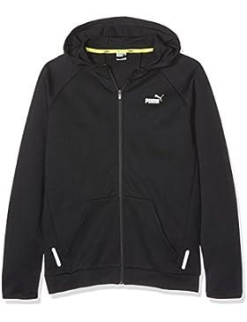 Puma Chaqueta capucha para niño, infantil, SPORTS STYLE Hooded Jacket, Cotton Black, 140
