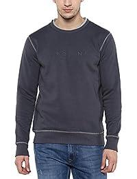 Proline Mens Round Neck Slub Sweatshirt