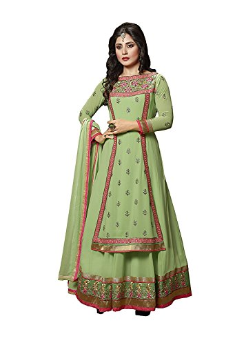 Crazy Women's Latest Design Party Wear Anarkali Gown for women Semi Stitched...
