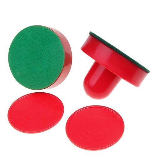 SODIAL(R) Air Hockey Pushers-SODIAL(R) 2 Air Hockey Pushers 2 table hockey pucks Handles
