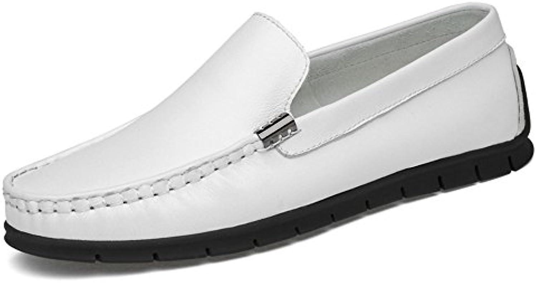 Sunny&Baby Hombre Comfrotable Driving Loafer Flat Heel Color sólido Slip en Zapatos de Mocasines Suaves Antideslizante...