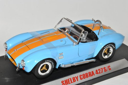 Shelby Ford Cobra 427 S/C Blau Orange 1962-1968 1/18 Collectibles Modell Auto (Cobra Ford)