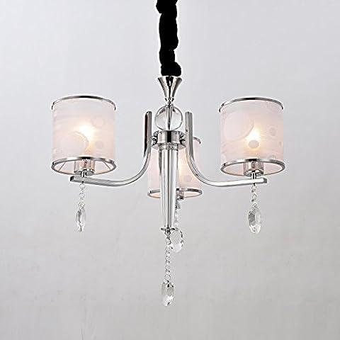 HuaJing® Lámpara cristal simple y elegante de estilo de europeo moderado Lámpara de araña cristal de 3 piezas para sala de estar Lámpara de araña cristal para dormitorio