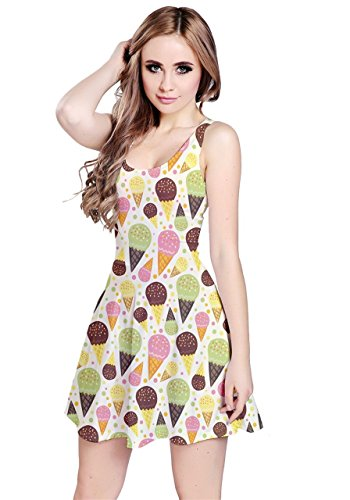 CowCow - Robe - Femme Colorful Pizza Colorful Ice Cream