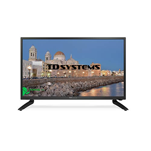 Televisor Led 24 Pulgadas Full HD Smart TD Systems K24DLH8FS. Resolución 1920 x 1080 HDMI VGA 2X USB Smart TV.