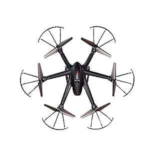 GARY&GHOST MJX X600 RC Quadcopter Hélicoptère 4CH 4 Canaux Quadricoptère Drone Avion Télécommande Radiocommande 2.4GHz Gyro Gyroscope 6-Axes avec Six Hélices LED Jouet Jeux Flip 3D UFO Cadeau NOIR