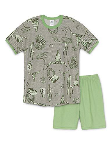 Calida Jungen Boys Western Zweiteiliger Schlafanzug, Mehrfarbig (Fair Green 651), 152
