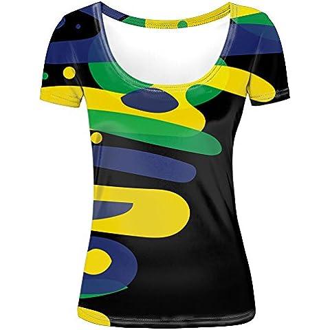 Rio 2016 Sports Theme Graphic Printed Women's Stylish Tee Shirt