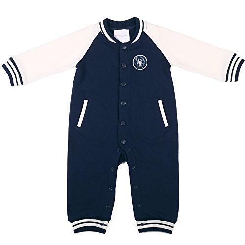 Oceankids Tuta a coste stile casacca Pagliaccetti, Blu Navy da bambino e bambina (Misura 12-18 Mesi)