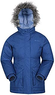 Mountain Warehouse Chaqueta Acolchada Freeze Over Niños - Acolchado Ajustable para niños, Capucha, Impermeable