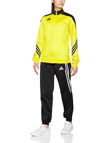 adidas Fußball Bekleidung Sere14 Präsentations Trainingsanzug Top:Sun/Black/White Bottom:Black/White