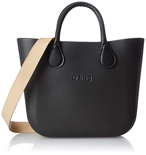 O bag B002, Borsa a Mano Donna, Nero, 11x31x40 cm (W x H x L)