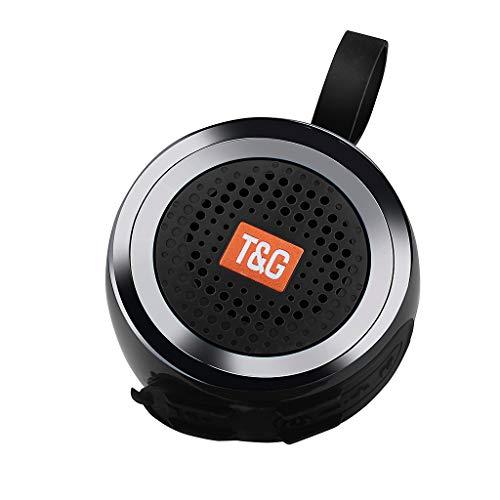 CAOQAO Haut-Parleur Bluetooth sans Fil TG 146, Basse StéRéO ExtéRieure USB/Audio Radio FM, Haut-Parleur Portable pour FêTe/Pique-Nique/Accueil, Mode Haut-Parleur Bluetooth Haute Qualité(Noir)