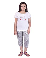 Limeberry Nightwear Set with Capri Pant & T-Shirt