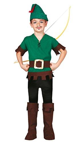 Guirca Costume vestito Robin Hood principe ladri carnevale bambino 8124_ 7-9 anni