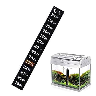 JIUZHI 20 Stück Aquarium Thermometer Temperatur Aufkleber Digitale Display Duale Skala Aufkleber