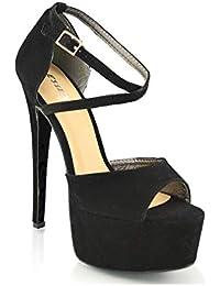 60b14c32c5 Amazon.it: ESSEX GLAM - Scarpe col tacco / Scarpe da donna: Scarpe e ...
