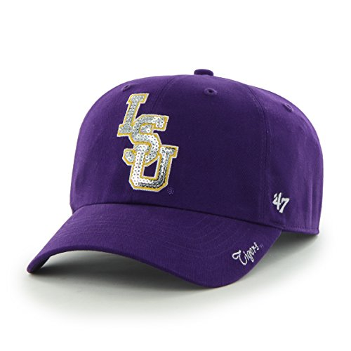 ncaa-lsu-tigers-womens-sparkle-team-color-clean-up-adjustable-hat-one-size-purple