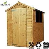 Cobertizo de madera de cobertizo (Apex, Mercia instalación incluye 6x 4ft