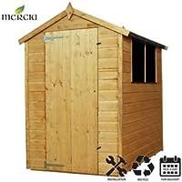 Cobertizo de madera de cobertizo (Apex, Mercia instalación incluye 6 ...