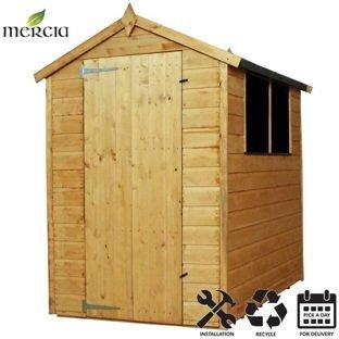 Mercia shiplap Apex tetto legno installazione incluso -6x 1,2m