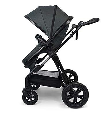 Pixini Travel-Set 3in1 Anthrazit (mit Babyschale schwarz, Regenplane und Becherhalter)